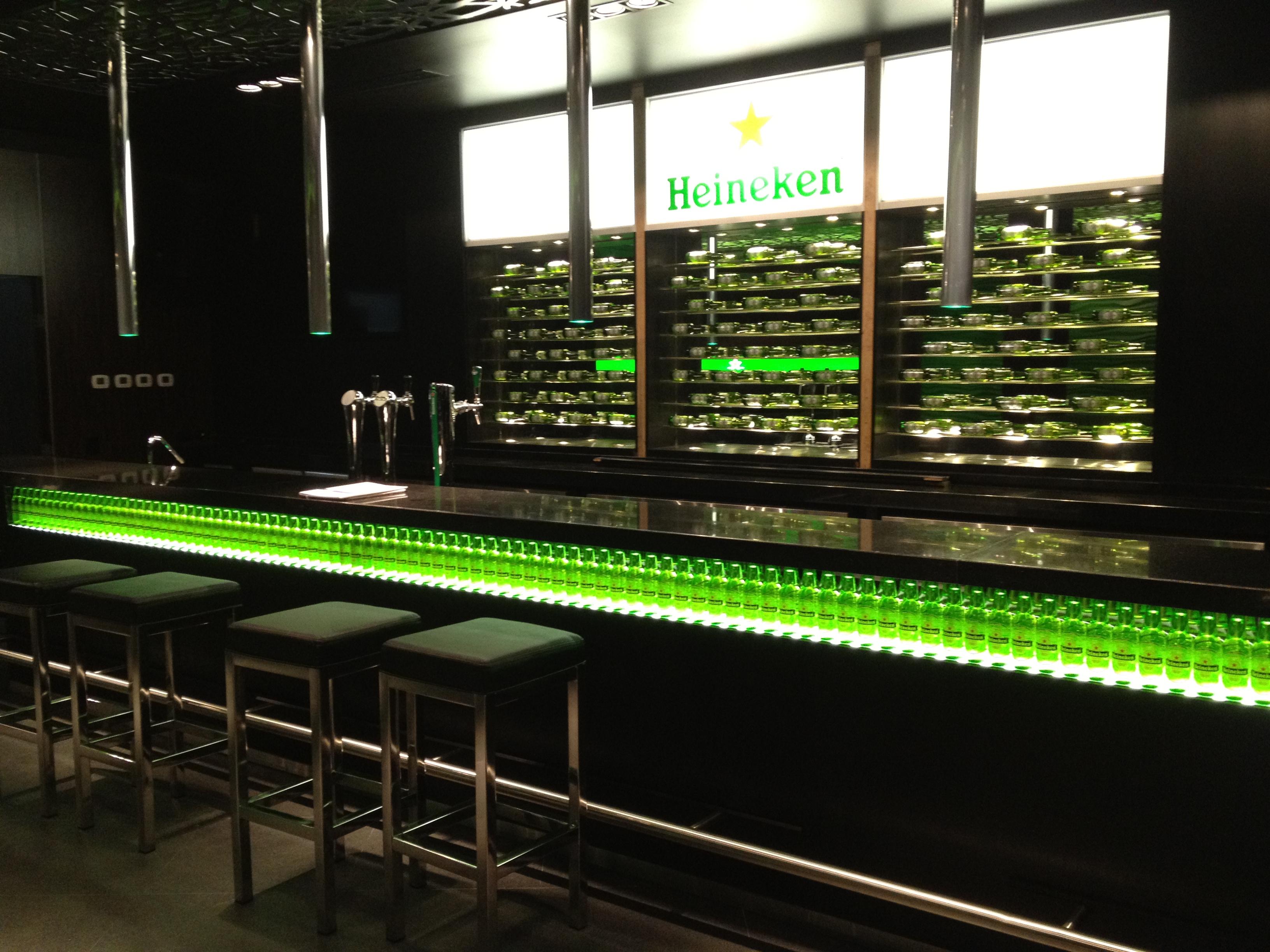 Bar Heineken – Arena Monterrey - D'inox Internacional